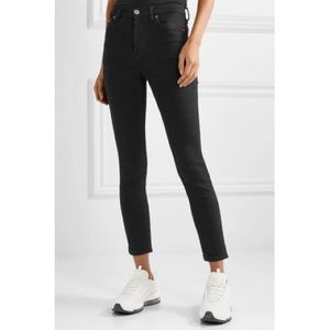 NWT Re/done high rise ankle crop stretch jeans